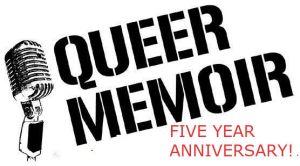 QUEER MEMOIR LOGO FIVE YEAR ANNIVERSARY